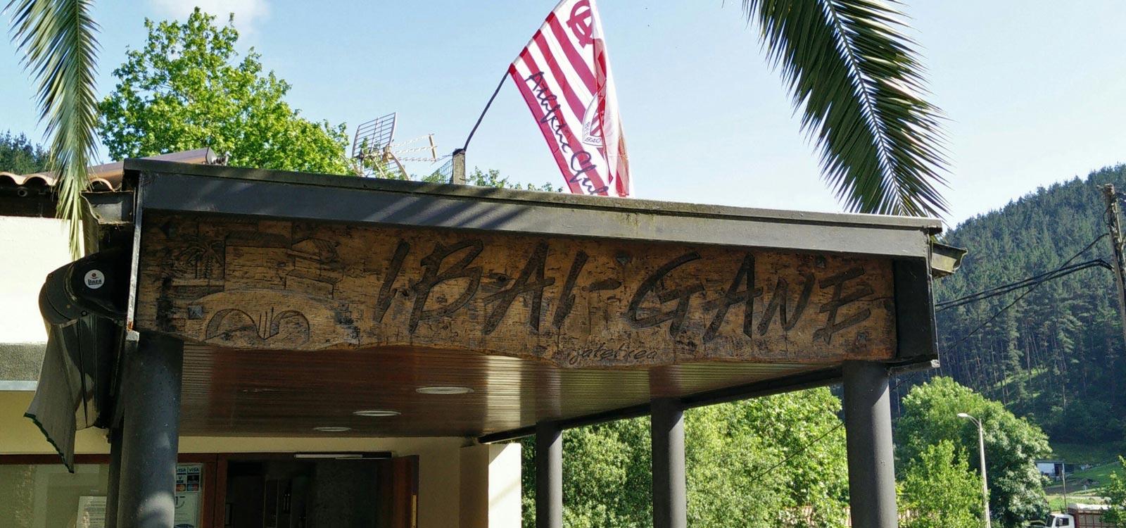 Ibaigane Restaurant Jatetxea bar entrance